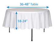 Prime Determining Tablecloth Size Wholesale Event Solutions Home Interior And Landscaping Palasignezvosmurscom