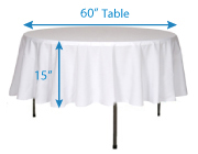 Determining Tablecloth Size Wholesale Event Solutions